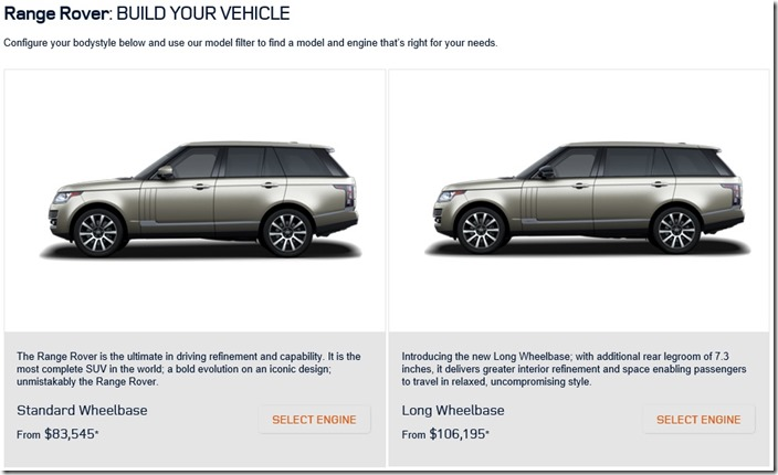 Land Rover S Usa Site Has Been Updated For Range Rover Lwb