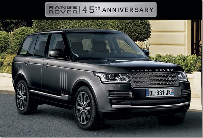france gets a 45th anniversary special edition for range rover always fanatical. Black Bedroom Furniture Sets. Home Design Ideas